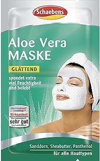 Schaebens 10 x Aloe Vera Gesichtsmaske - spendet extra viel Feuchtigkeit und belebt 10 x 2 x 5mL für 20 Anwendungen