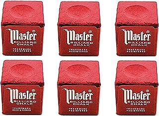 Half Dozen Red Master Pool Cue Chalk
