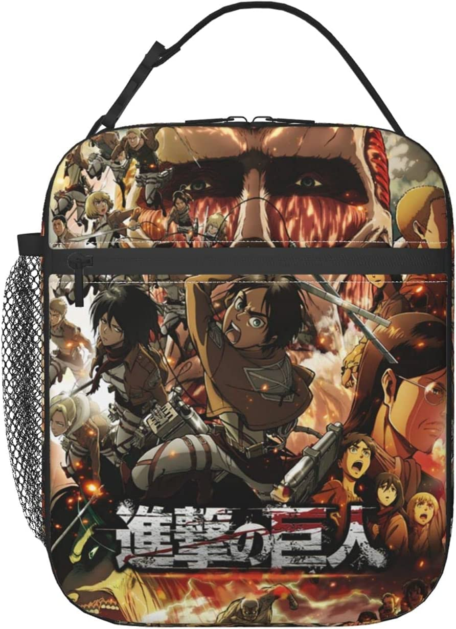 New mail order Attack On Titan Reusable Insulated Lunch Sales of SALE items from new works Men Cute Women Box Bag
