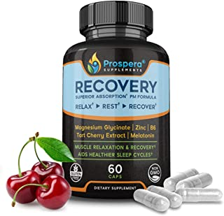 Prospera Muscle Recovery Magnesium Formula, Zinc for Immune Support, Magnesium Glycinate and vitamin B6 Boost Workout Endu...