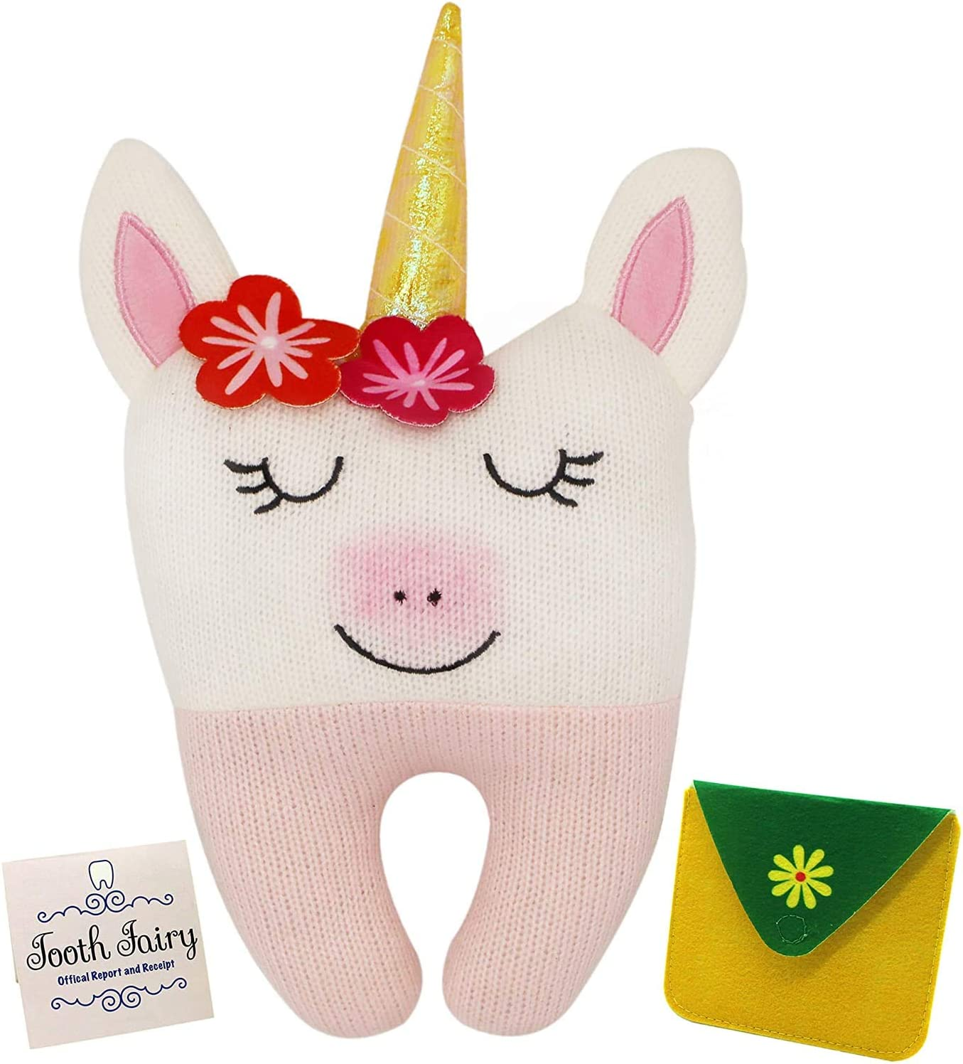Tooth Fairy Pillow - Our Tooth Fairy Pillows are for Girls and Boys - This Tooth Fairy Kit Includes a Notecard and Keepsake Pouch - Super Cute Unicorn Tooth Fairy Gifts for Girls and Boys