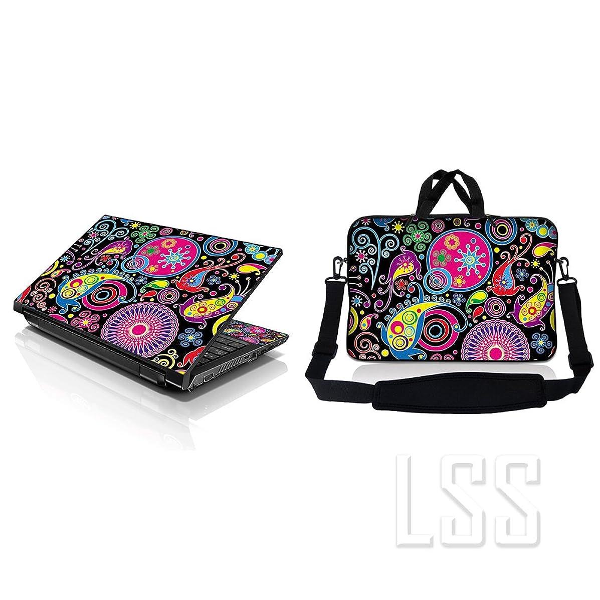Laptop & MacBook PRO Sleeve Bag Carrying Case w/Handle & Adjustable Shoulder Strap & Matching Skin Sticker Fits 15