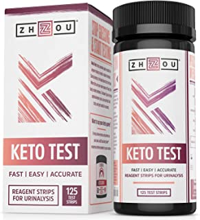 Keto Test - Quick & Easy Ketone Test Strips with Ketone Blood Meter, Read Ketone Level with Ease During Keto, Paleo, Low-Carb Diets