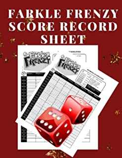 Farkle Frenzy Score Record Sheet: A Cute Red Large Scoring Card Pads, Log Book Keeper, Tracker, Of Farkle Game Set Dice Thrown; With 100 Pages To ... and Management For Kids And Adults