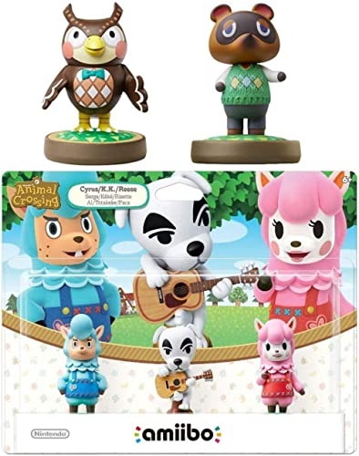 Animal Crossing Series 3-Pack Amiibo (Animal Crossing Series) - Tom Nook - Blathers Amiibo Bundle for Nintendo Switch...