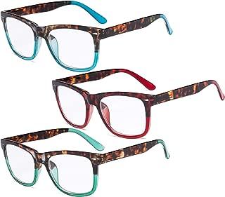 Eyekepper Ladies Reading Glasses - 3 Pack Large Lens Stylish Readers for Women +2.00