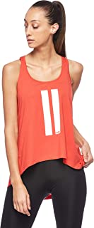 BodyTalk Women's Sleeveless Loose Cut Top, Red (Flame), X-Large