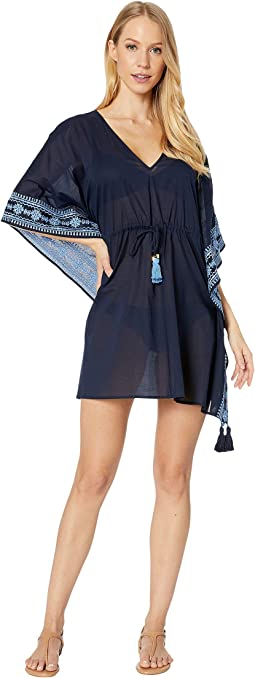 Navy Blue Camo All Over Juniors Beach Cover-Up Dress