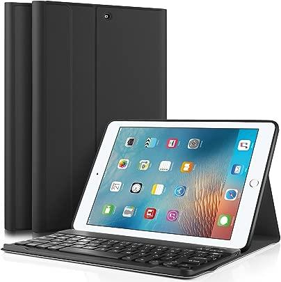 IVSO iPad 9 7 Zoll 2017 QWERTY Tastatur Abnehmbare Wireless Bluetooth Tastatur Schutzh lle mit Standfunction F r Apple iPad 2017 9 7 Zoll Tablet Schwarz Schätzpreis : 99,95 €