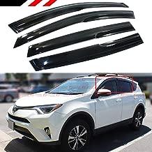 Cuztom Tuning JDM 3D Style Window Visor Rain Guard Vent Shade for 2013-2018 Toyota RAV4