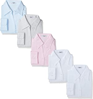 [アトリエサンロクゴ] レディース シャツ ブラウス 5枚セット 事務服 制服 ワイシャツ ビジネスワイシャツ l1-l22-5set