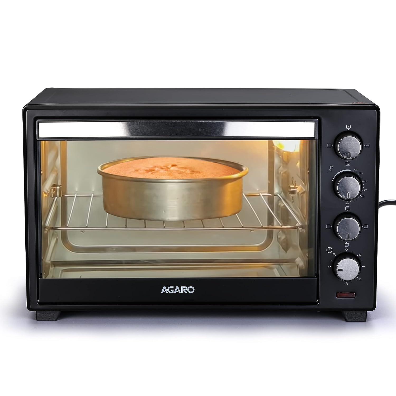 AGARO 33310 48 Liter Oven Toaster Griller with Motorized Rotisserie & 3 Heating Modes, Black