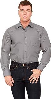 Alberto DanelliMen'sSolidLongSleeveDressShirt, CottonButtonDown