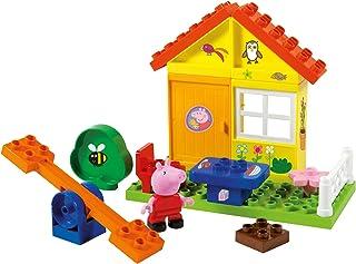 BIG 800057073 Bloxx Peppa Tuinhuis, bouwset, Big-Bloxx set inclusief Peppa, 19 delen, multicolour, voor kinderen vanaf 18 ...