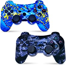 CHENGDAO Wireless Controller 2 Pack Compatible with Playstation 3 with High Performance Motion Sense Double Vibration and ... photo