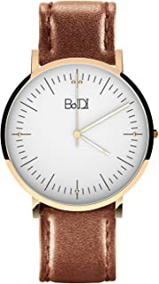 BaIDI Womens Watches Women Wrist Watch Waterproof Analog Watch Quartz Watch Ladies Wrist Watch with Second Hand Brown Leather Watches for Women Lady