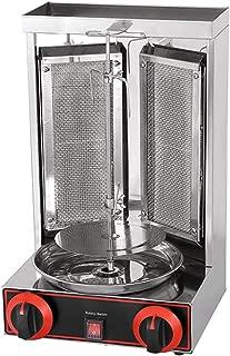 Shawarma Grill Machine Gas Doner Kebab Machine Mini Gyro Machine 2 Burners Vertical Broiler Meat Capacity 11lbs