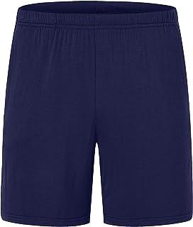 AIRIKE Women's Cotton Pajama Shorts Lightweight Woven Sleep Shorts with Pockets