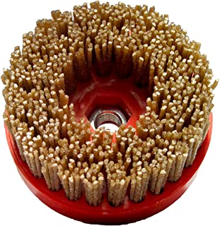 Tenax 4 Inch Diamond Wire Brush Snaillock Backer -- 36 grit