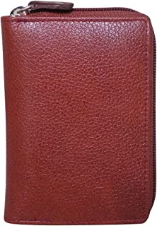Style98 Brown Leather Credit Card Holder Wallet with 13 Card Slots & 2 Money Pockets for Men & Women -3290WL-BB