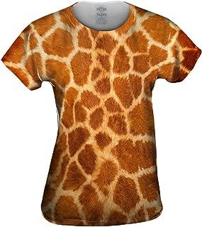 Women's AnimalShirtsUSA- Giraffe skin -Tagless T-Shirt