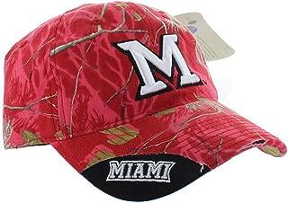 Mossy Oak Miami University Redhawks Distressed Camo Polo Style College Adjustable Dad Hat Cap