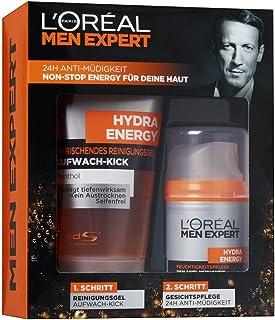 L'Oreal Men Expert cadeauset Hydra Energy - verzorgingsset incl. Hydra Energy verfrissende reinigingsgel wakker kick + Hyd...