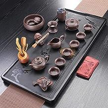FACAIA Rudawa herbata czarny kamień szlachetny taca do herbaty zestaw do herbaty (kolor: dzbanek do herbaty z kamieniem Ujin)
