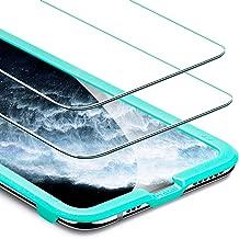 ESR Tempered-Glass for iPhone 11 Pro Max Screen Protector/iPhone XS Max Screen Protector [2 Pack][Easy Installation Frame][Case Friendly], Premium Tempered Glass for iPhone 11 Pro Max/XS Max