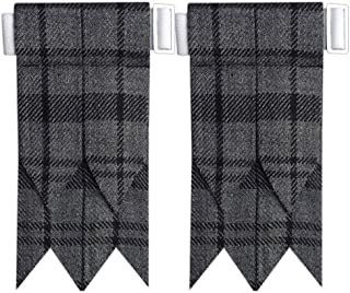 AAR New Flashes Solid Plain Black, Royal Stewart Tartan More Scottish Tartans Kilt Hose/Sock