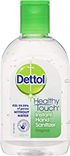 Dettol Healthy Touch Liquid Antibacterial Instant Hand Sanitiser Original, 200ml