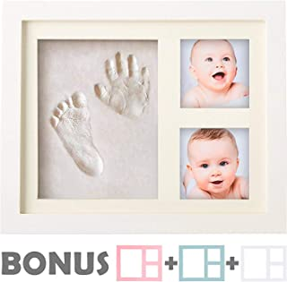 Baby Handprint Kit |NO Mold| Baby Picture Frame, Baby Footprint kit, Perfect for Baby Boy..