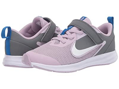 Nike Kids Downshifter 9 (Little Kid) (Iced Lilac/White/Smoke Grey/Soar) Boys Shoes