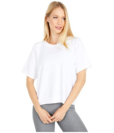 Beyond Yoga Solid Choice Short Sleeve Pullover (White) Women