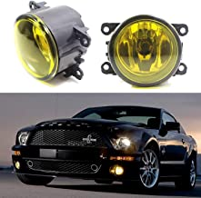 iJDMTOY Pair Selective Yellow Lens Fog Light Lamp Assemblies w/ 55W H11 Halogen Bulbs For Acura Honda Ford Nissan Subaru Suzuki etc