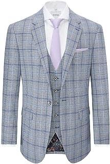 Skopes Mens Big Size Grey/Blue Check Blazer/Jacket (Stark)