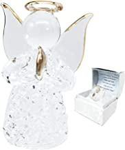 Ebros Gift Beautiful Inspirational Handblown Glass Art Prayer Guardian Angel Ornament Figurine Collectible in Window Gift ...