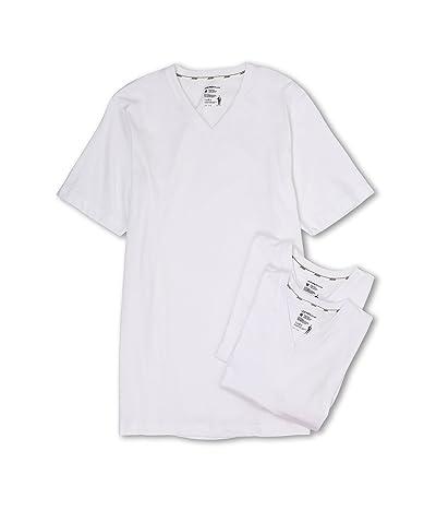Jockey Cotton Slim Fit V-Neck Neck T-Shirt 3-Pack (White) Men