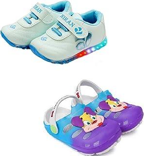Fashion shoes Kids Unisex LED Shoes & Clogs Combo