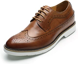CHAMARIPA Mens Height Increasing Elevator Shoes 2.56'' Taller Dress Brogue Shoes DX60B06-1