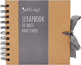 Set of Scratch & Sketch Kraft Small/Medium/Large Square Scrapbook- Quality Brown Kraft Paper Scrapbook With Ribbon (Small 15cm x 15cm - 50 Sheets)