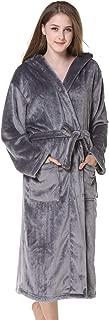 ZYUEER Peignoir Long Polaire Femme Homme Unisexe Couple Pyjama Peignoir De Bain Kimono Robe De Chambre Manche Longue Bathrobe V/êTements De Nuit pour Hotal Spa Homewear
