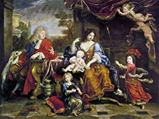 Louis Le Grand Dauphin (1661-1711) Neldest Son And Heir Of King Louis Xiv Of France With His Wife And Children Louis The Duc De Bourgogne Is Standing At Right Philippe The Duc DAnjou And Future Philip