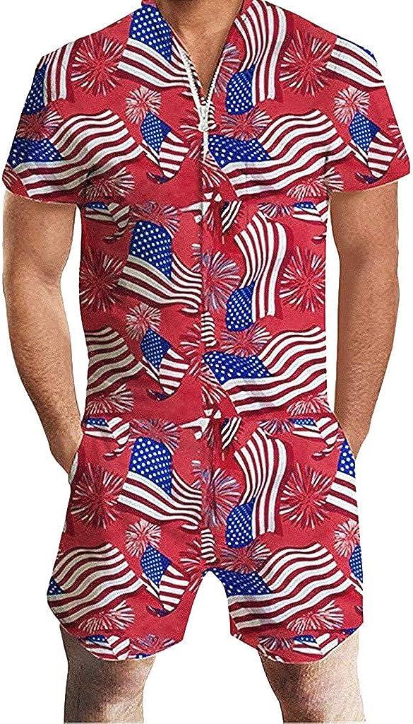 F_Gotal Men's Fashion Rompers Male Zipper Fl Jumpsuit Max 88% OFF Shorts Financial sales sale USA