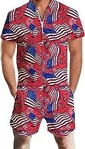 NIUQI Fashion Men's 3D Printed Short Sleeve Large Size Clothes T-Shirt Top Blouse Print Jumpsuit
