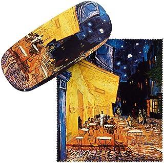 VON LILIENFELD Étui Lunettes Boîte Robuste Cadeau Étui Lunettes de Soleil Chiffon de Nettoyage Art Vincent van Gogh : Café...