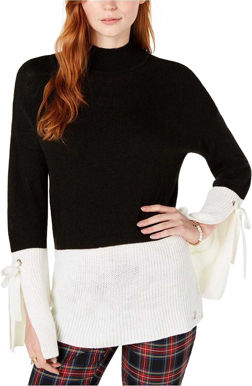 Tommy Hilfiger Womens Split Cuff Pullover Sweater