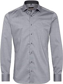 Eterna Long Sleeve Shirt Slim FIT Stretch uni Grey