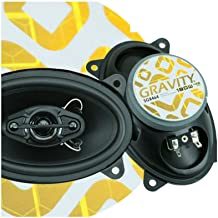 $26 » Sponsored Ad - Gravity SGR464 4x6-Inch 4-Way 180 Watts Peak Power CEA Rated Car Audio Full Range Speakers -1 Pair Made wit...
