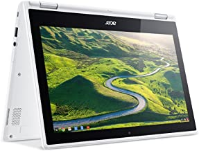 Acer R11 Convertible 2-in-1 Chromebook, 11.6in HD Touchscreen, Intel Quad-Core N3150 1.6Ghz, 4GB Memory, 32GB SSD, Bluetooth, Webcam, Chrome OS (Renewed)